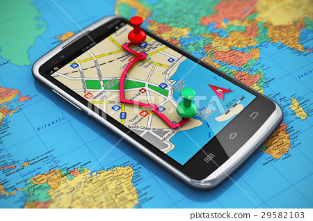 GPS navigation, travel and tourism concept 29582103