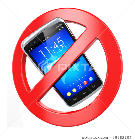 No mobile phone sign 29582104