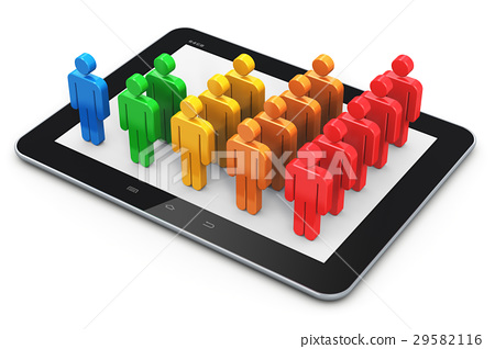 Social networking and client management concept 29582116