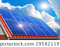 Solar panels on house roof 29582119