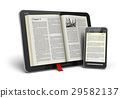 Book in tablet computer and smartphone 29582137