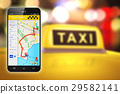 Smartphone with taxi service internet application 29582141