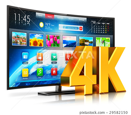 4K UltraHD curved smart TV 29582150