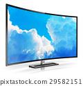 Modern curved 4K UltraHD TV 29582151