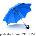 Blue umbrella or parasol 29582154