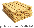 Stacked wooden planks 29582169