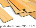 Laying of wooden laminated planks parquet floor 29582171