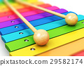 Rainbow wooden xylophone 29582174