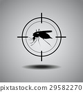 stop mosquito , flat icon design,logo 29582270