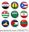 Set of world flags round badges 29582771