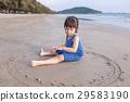 海灘 女孩 少女 29583190