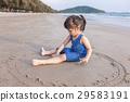 海灘 女孩 少女 29583191