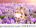 Little girl in hyacinth field 29584533