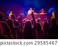 crowd at concert - summer music festival 29585467