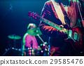 guitarist on stage - summer music festival 29585476