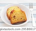 바나나와 견과류 파운드 케이크 29586617