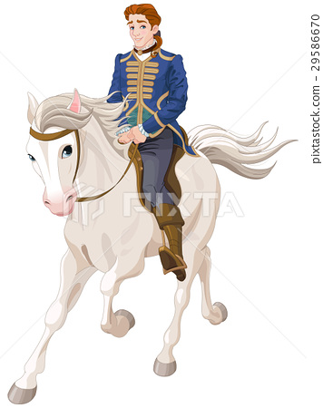 Prince Charming riding a horse 29586670