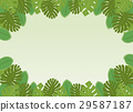 잎, 벡터, 테두리 29587187