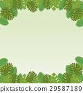 樹葉 葉子 框架 29587189