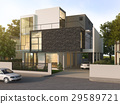beautiful modern design black brick house  29589721