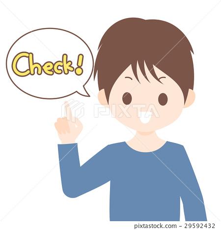 指向手指和說檢查的人材料例證材料白色背景·傳染媒介·透明png 29592432