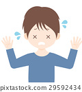 Embarrassed male illustration material White background · Vector · Transparent png 29592434