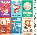 Set Of Baseball Posters In Retro Style 29593818