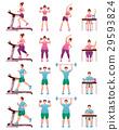 Fat Slim Fitness People Icon Set 29593824