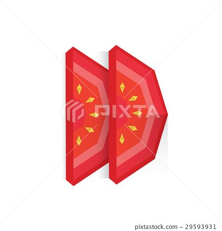 Tomato slice Nicolas Gajardo Henriquez | Gilad's Origami Page | 468x450