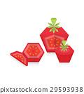 Tomato 3D Origami Icon 29593938