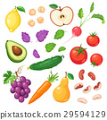fresh vegetables and fruits 29594129