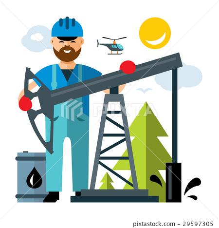 Vector Oil Industry.  29597305