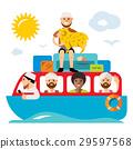 Vecctor Refugee migrants boat. Illegal migration. 29597568