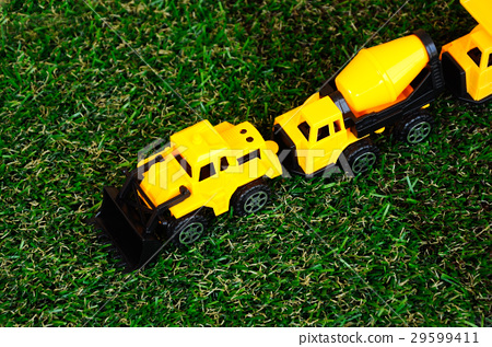 Heavy construction machine toys made of plastic 29599411