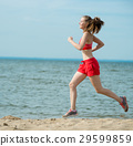 beach, female, running 29599859