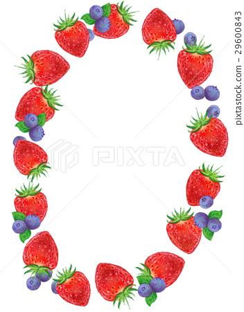 딸기와 블루 베리의 테두리 29600843