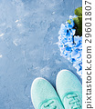 background, shoes, blue 29601807