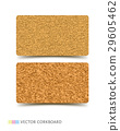 Cork board texture business card vector 29605462