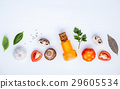Various vegetable and ingredients. 29605534