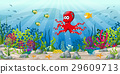 Illustration of an underwater landscape 29609713