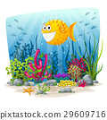 Illustration of an underwater landscape 29609716