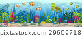 Illustration of an underwater landscape 29609718