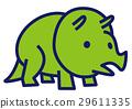 三角龍 恐龍 簡單 29611335