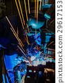 Welder is welding in factory 29617153