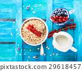 oatmeal berry milk 29618457