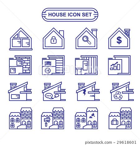 House icon set 29618601