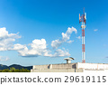 Telephone mast on Blue sky 29619115