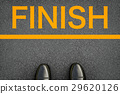finish concept with leather shoes at finish line 29620126