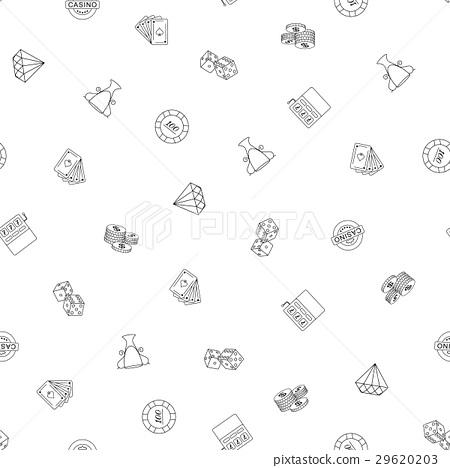 Gambling hand drawn Seamless Pattern Background 29620203