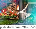 Candlelight dinner. Festive deco for christmas  29620245